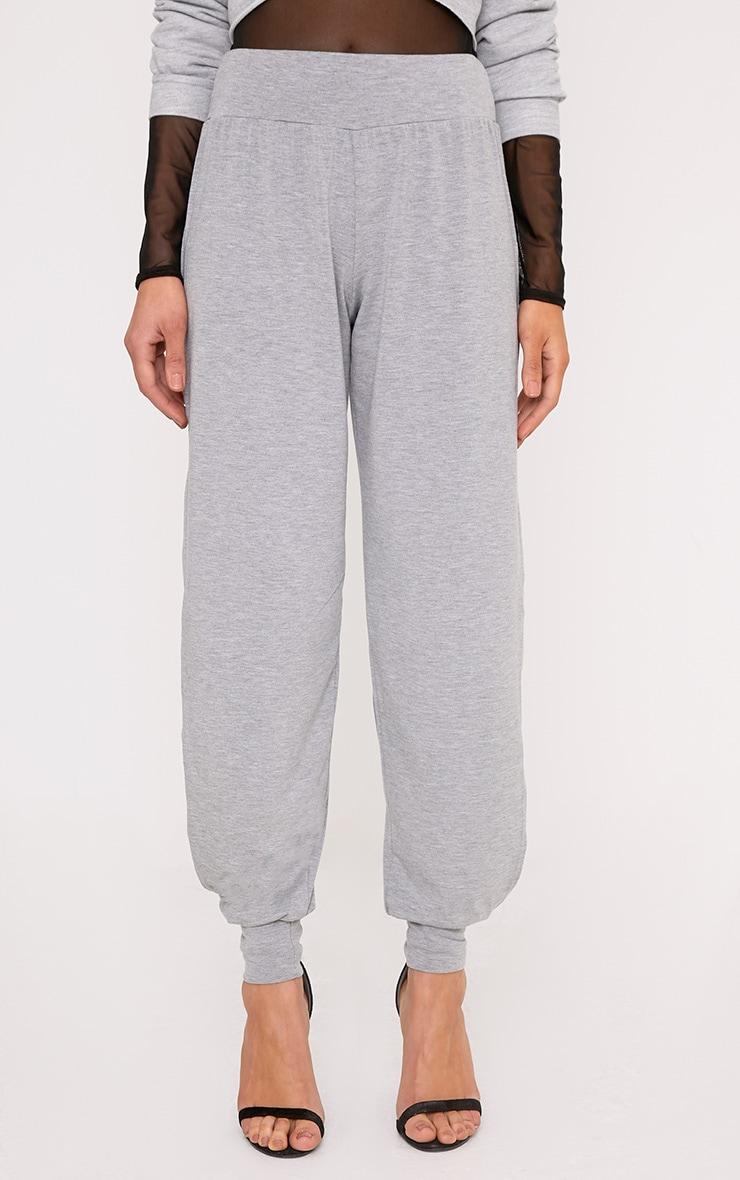 Chasity Grey Split Side Jersey Trousers 2