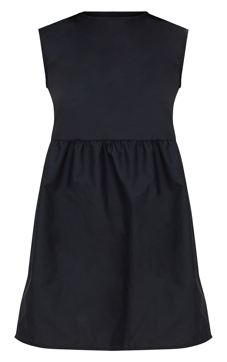 Black Sleeveless Smock Dress 3