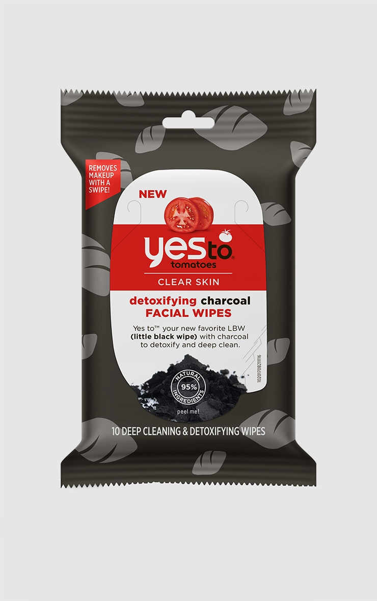 Yes To Tomatoes Travel Size Detoxifying Charcoal Wipes 1