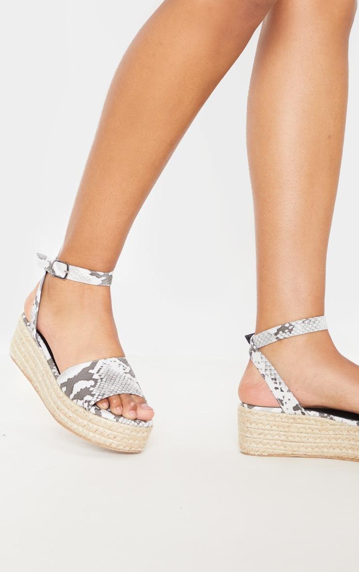 Snake Espadrille Flatform Sandal 2