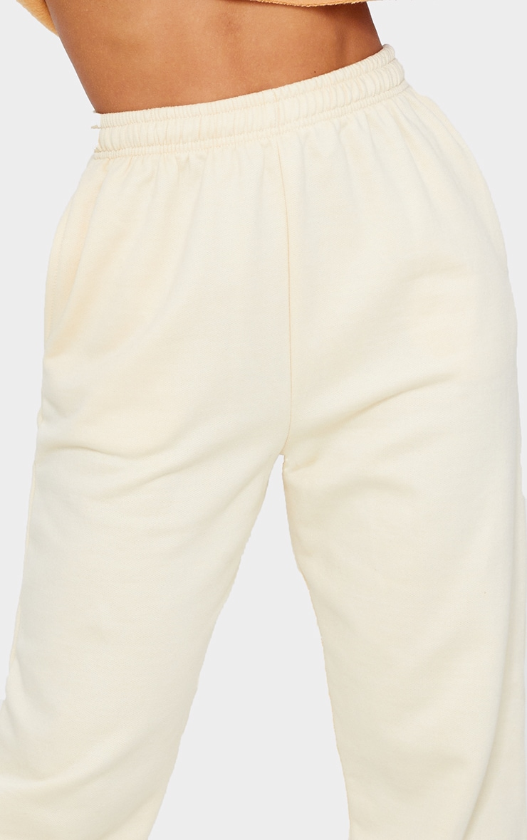 Pantalon de jogging jaune clair casual 4