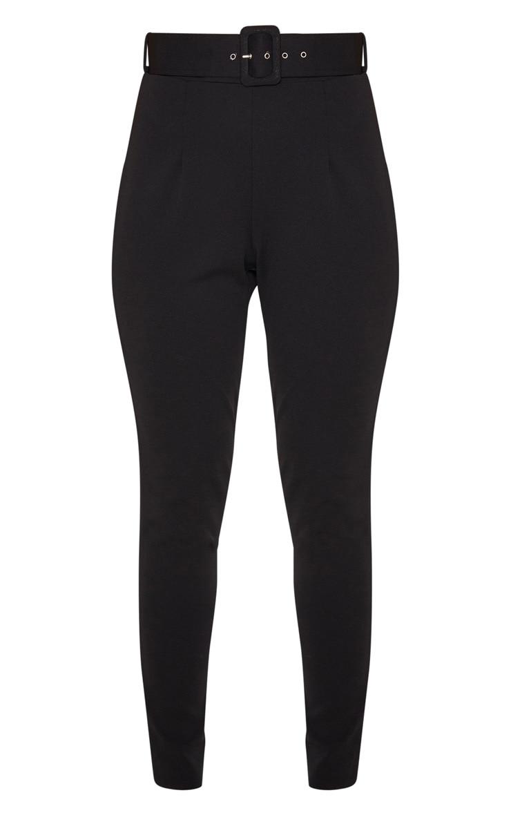 Black Belted Waist Skinny Trouser 3