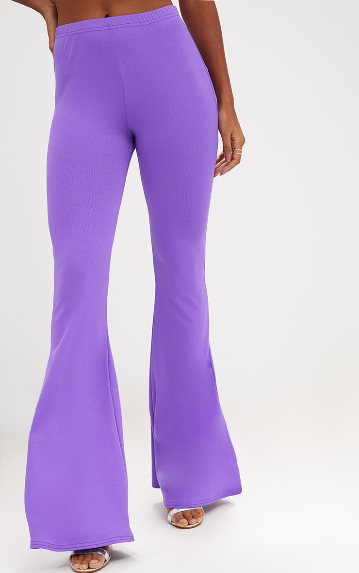 Purple Ultimate Flared Trousers 5
