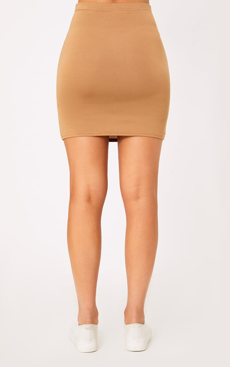 Basic Black & Camel Jersey Mini Skirt 2 Pack 8