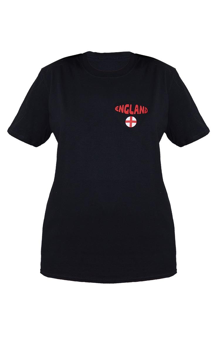 Black Oversized England T Shirt 5