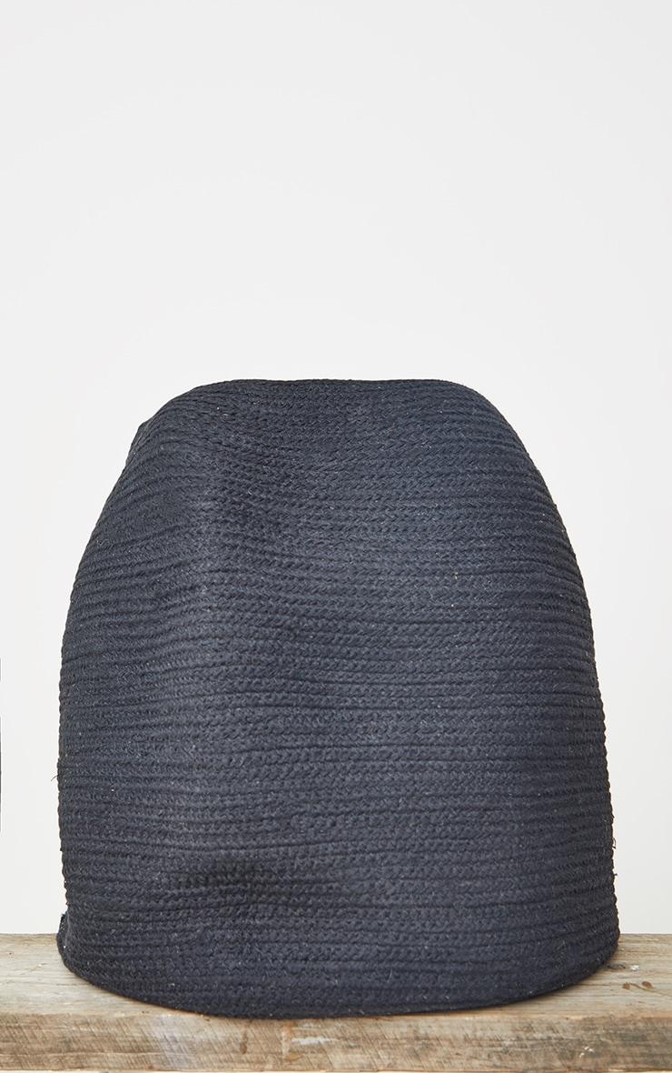 Black Jute Storage Basket Tall 4