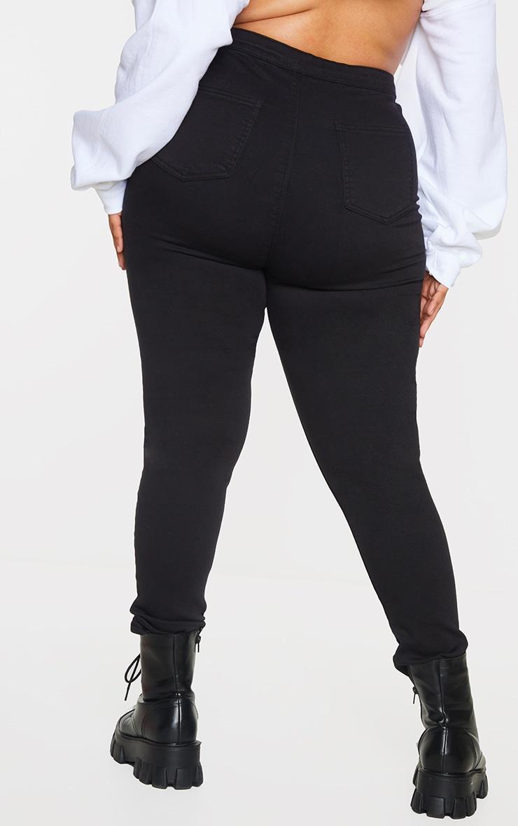 Plus PRETTYLITTLETHING Black Disco Skinny Jeans 3