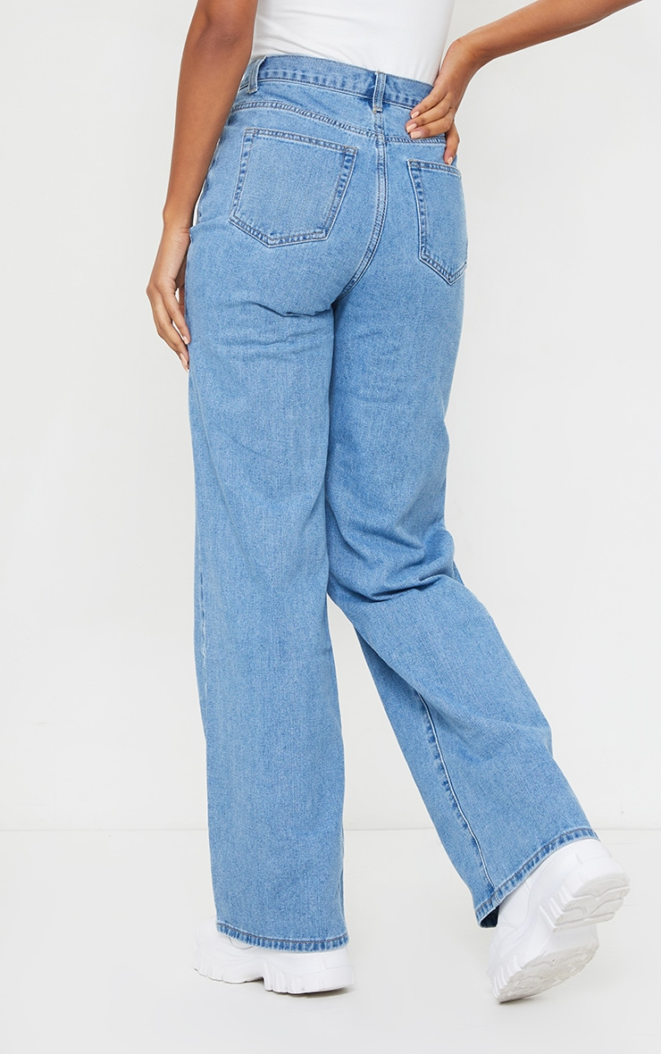 Light Wash Extra Long Wide Leg Jeans 3