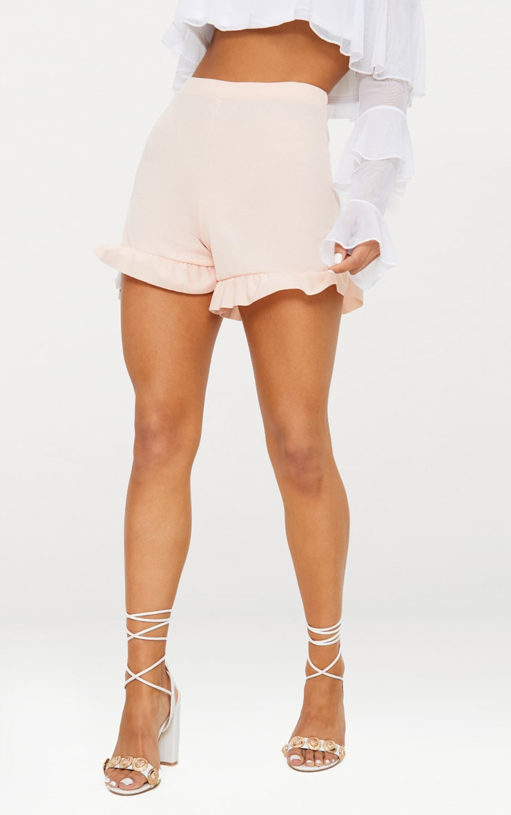 Nude Frill Hem Shorts 2