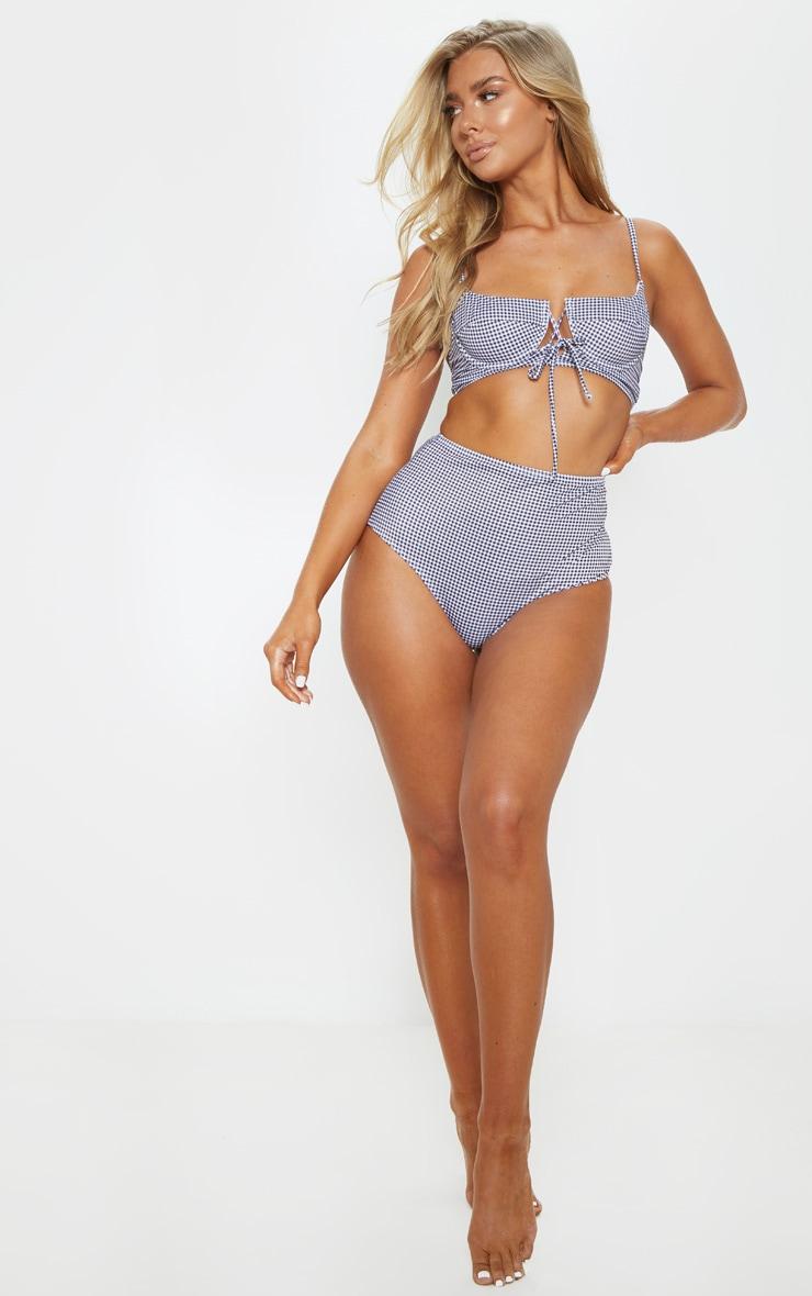 Gingham High Waisted Bikini Bottom 5
