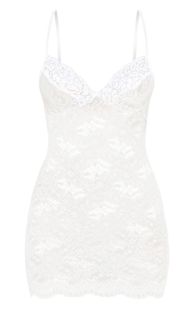 White Lingerie Lace Slip Dress 3