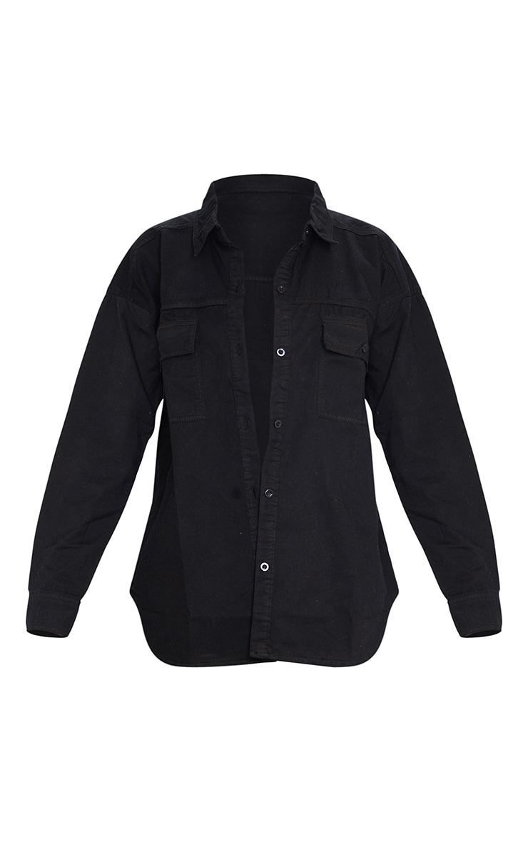 Chemise en jean noir  5
