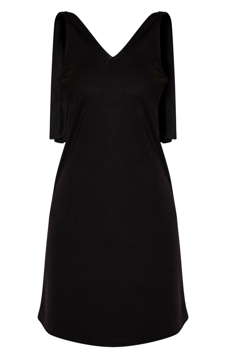 Tall Black Strappy Tie Slip Dress 3