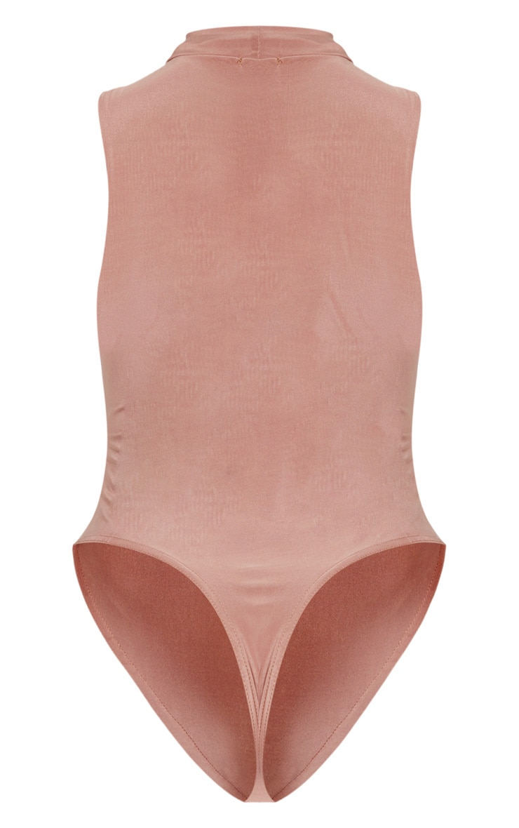 Shape Mocha Slinky High Neck Sleeveless Bodysuit 5