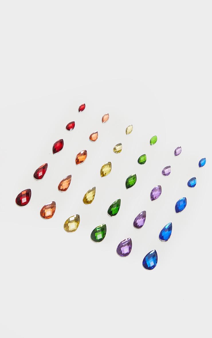 SHRINE Tear Drop Individual Jewels Rainbow 3