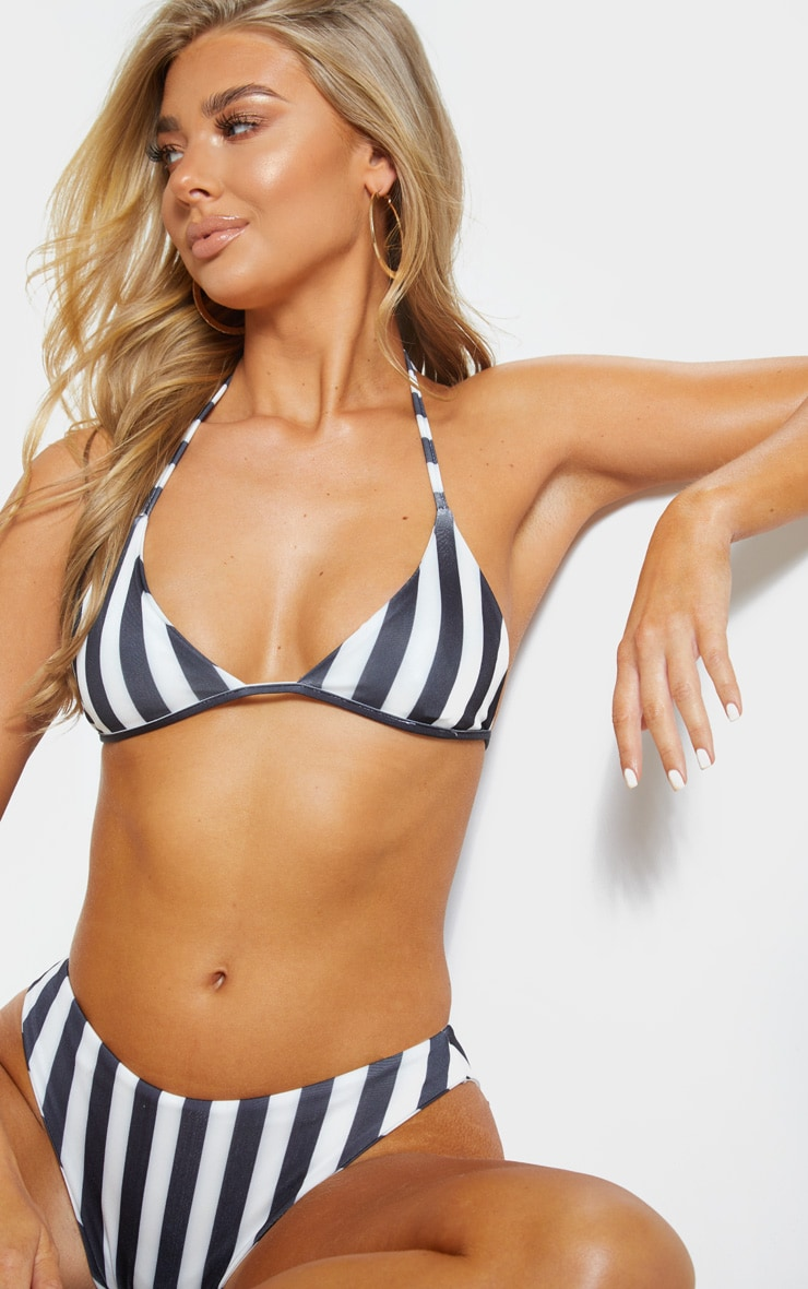 Black And White Mini Triangle Bikini Top 4