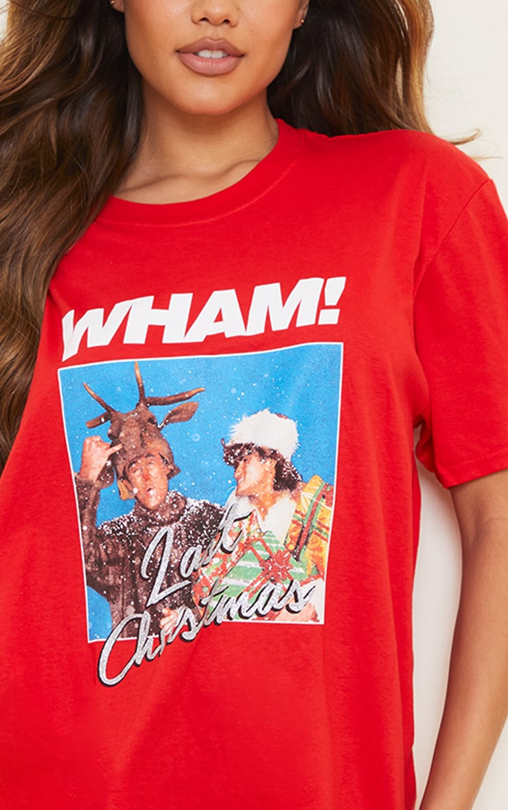 Red Wham Last Christmas Printed T Shirt 4