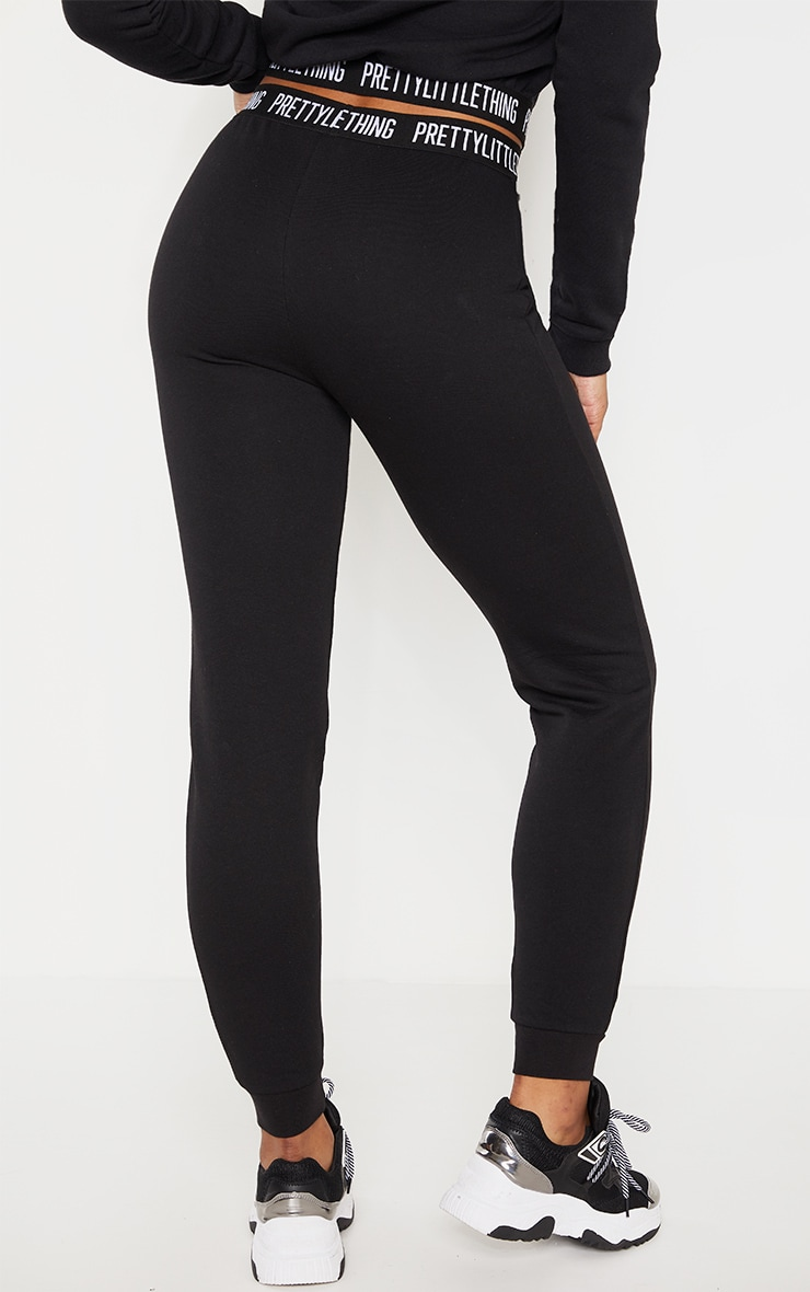 PRETTYLITTLETHING - Tall - Jogging noir à logo 4