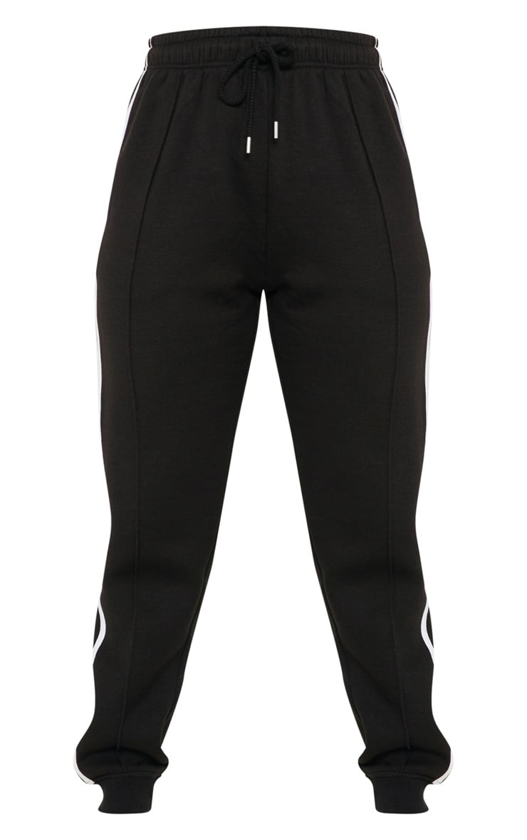 Black Double Side Stripe Joggers 3