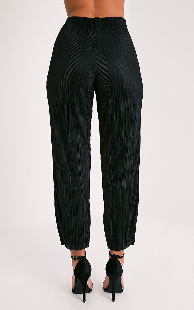 Lianne Black Soft Pleated Cigarette Trousers 5