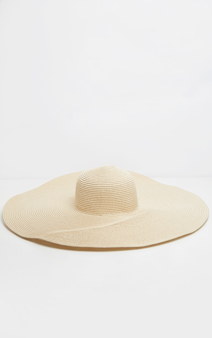 Cream Extra Large Oversized Sun Hat image 2