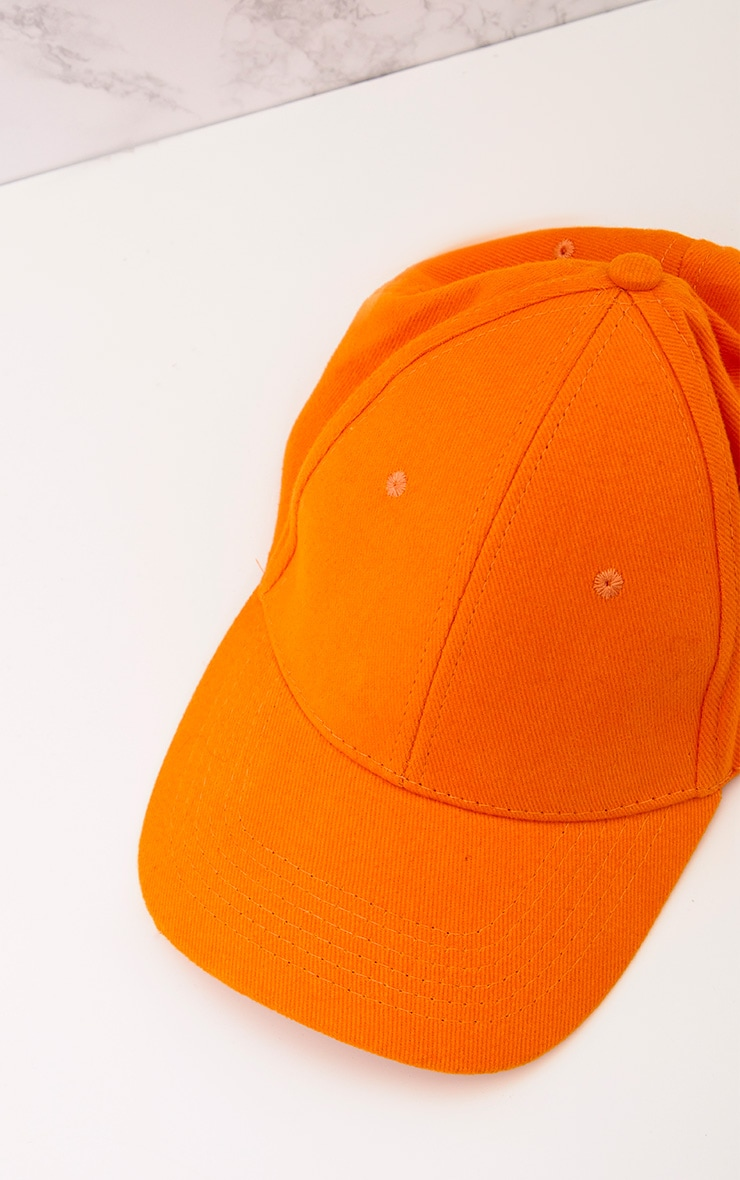 Orange Woven Baseball Cap 5