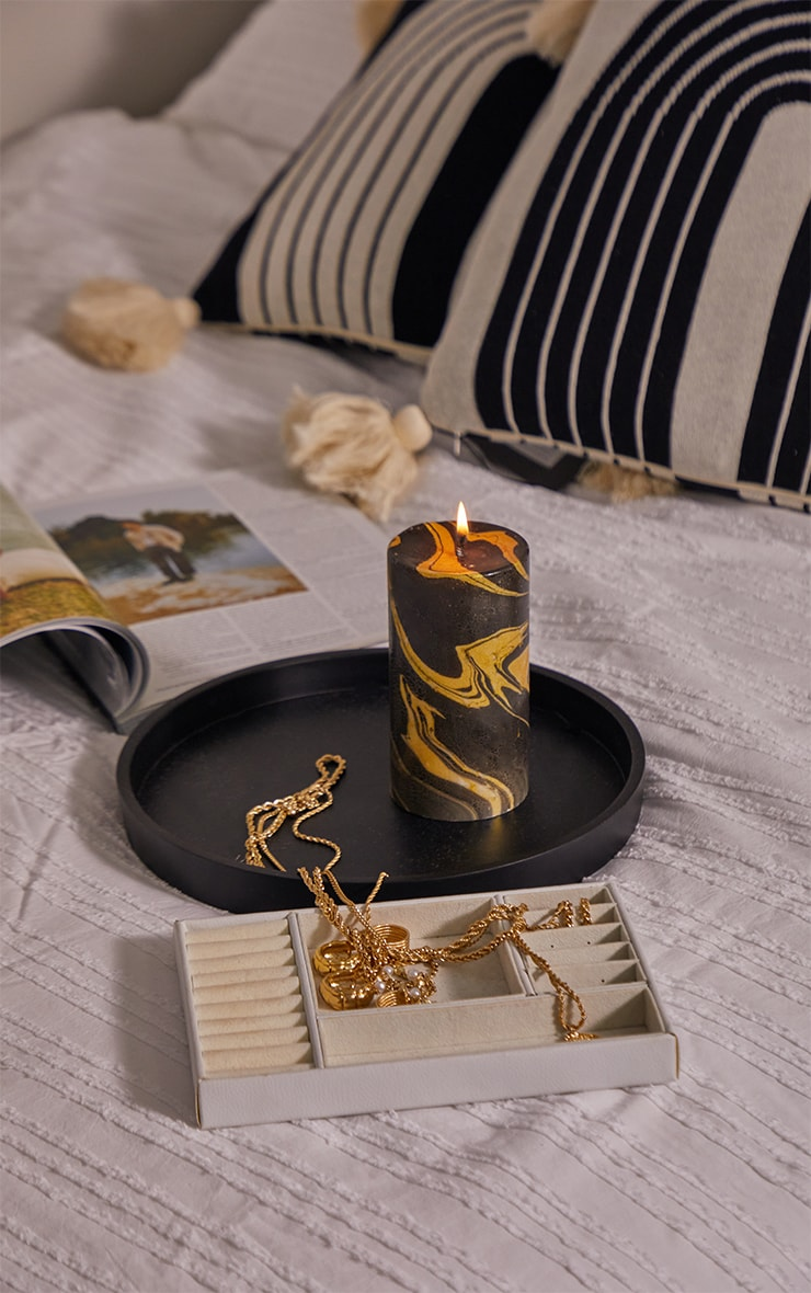 Gold Marble Candle 1
