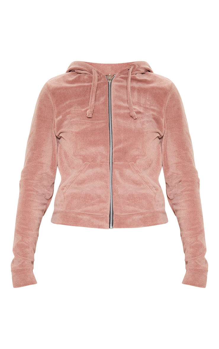 Rose Mix & Match Velour Zip Up Hoodie 4