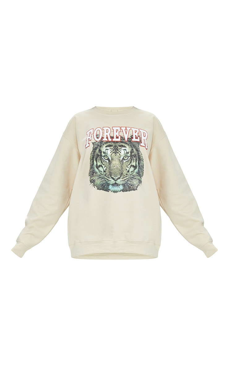 Stone Tiger Printed Washed Sweatshirt 5