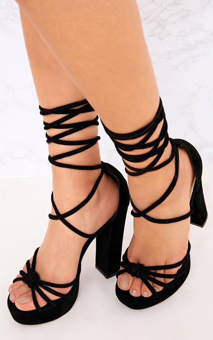 Black Lace Up Platforms 1