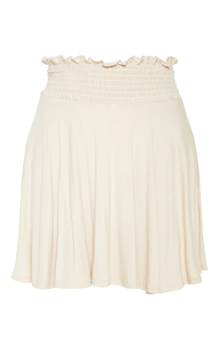 Stone Shirred Waistband Skater Skirt  3