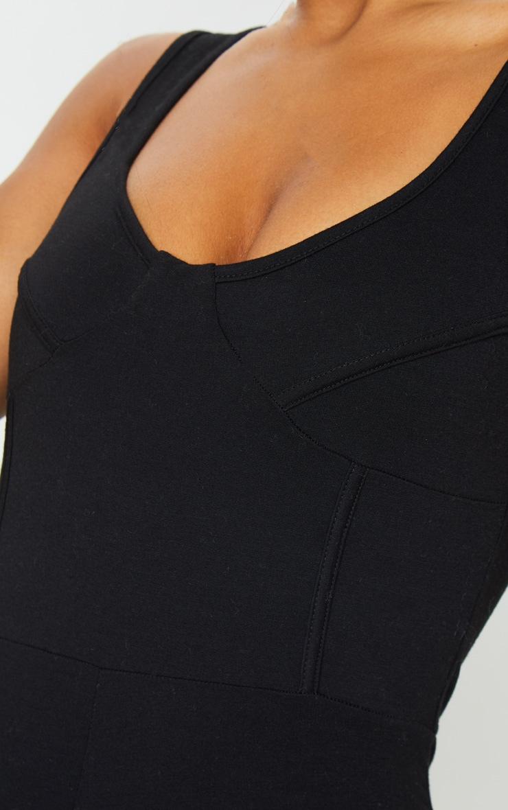 Black Soft Binding Detail Sleeveless Jumpsuit 4
