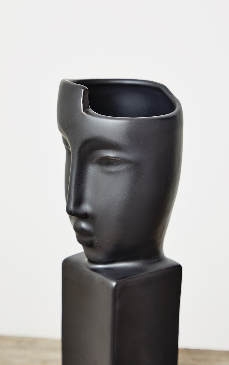 Black Masquerade Sculpture Vase 5