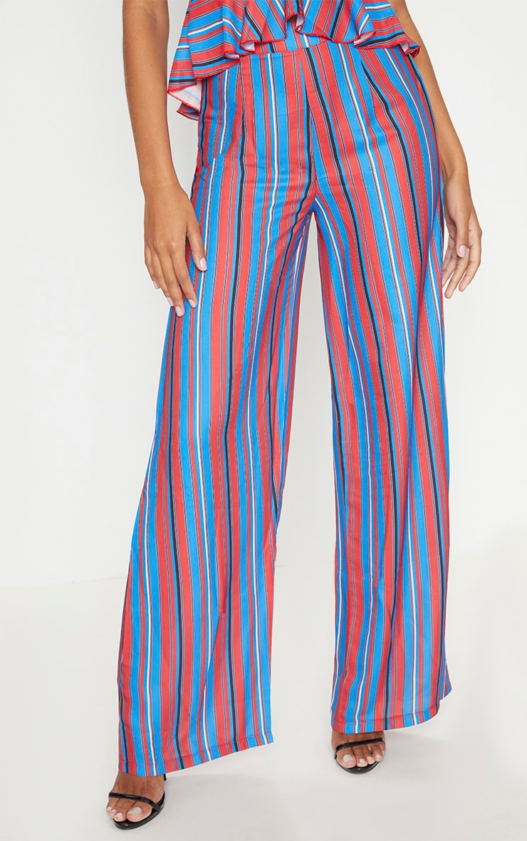 Red Stripe Wide Leg Trouser 2
