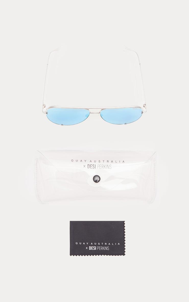 QUAY AUSTRALIA Blue X Desi High Key Aviator Sunglasses 4