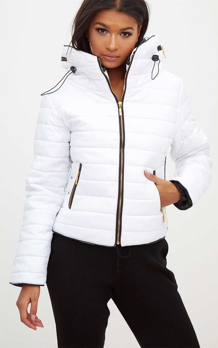 Mara White Puffer Jacket 1