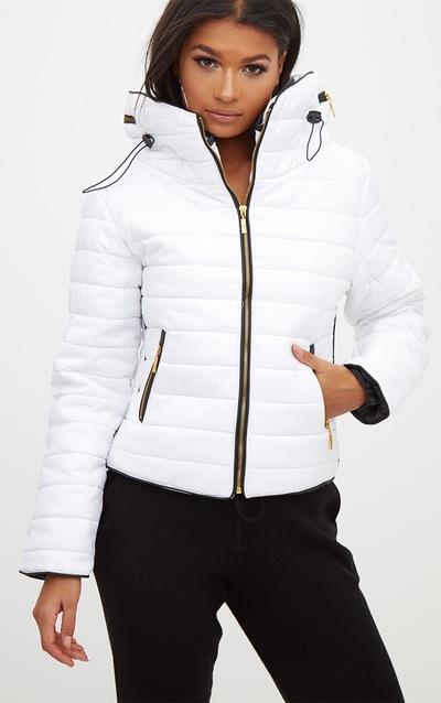 5c639db8ec9ea Mara White Puffer Jacket