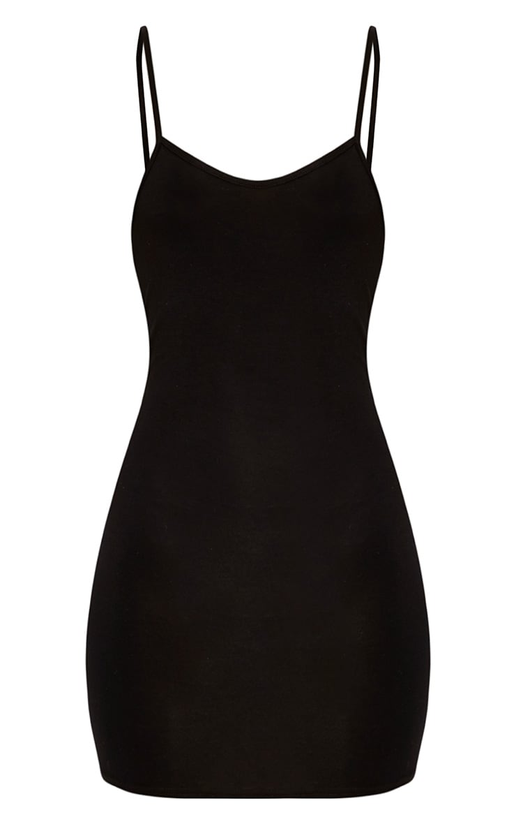Basic Black Strappy Bodycon Dress 3