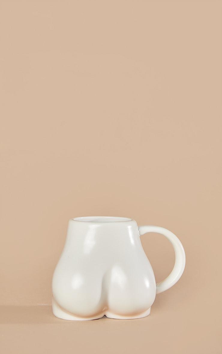 White Ceramic Booty Mug 4