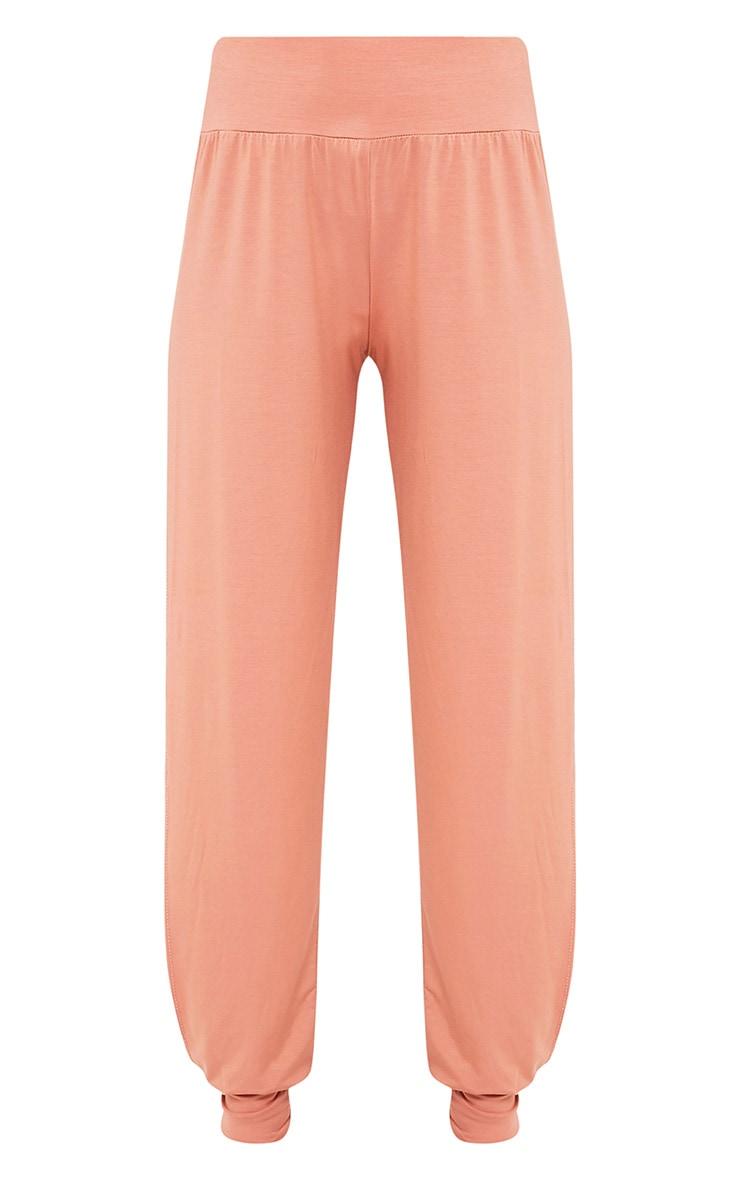 Chasity Peach Split Side Jersey Trousers 3