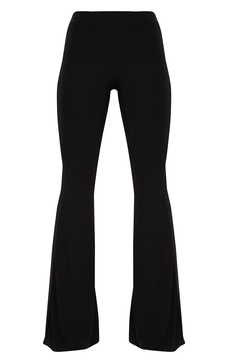 Black Slinky Flared Trousers 3