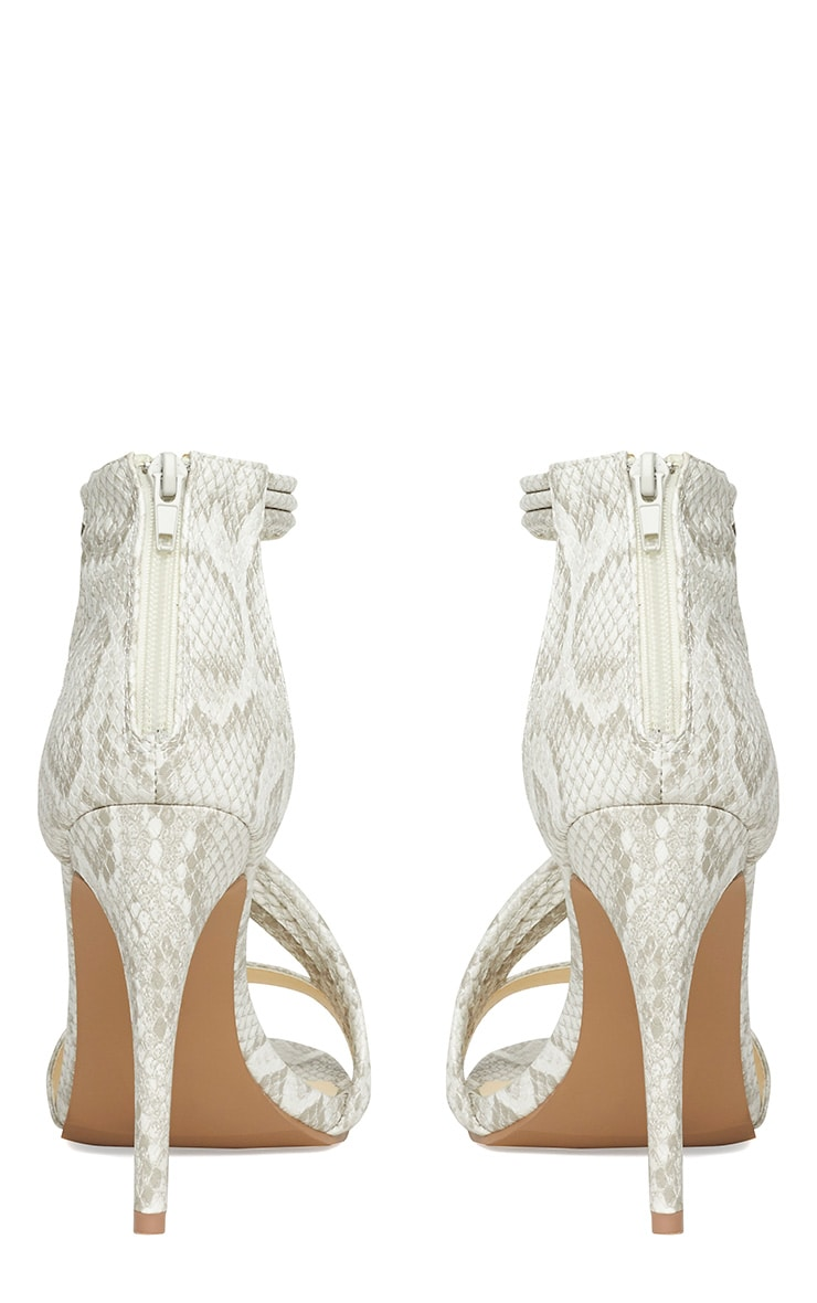 Riley Snake Cross Strap Heeled Sandals 8