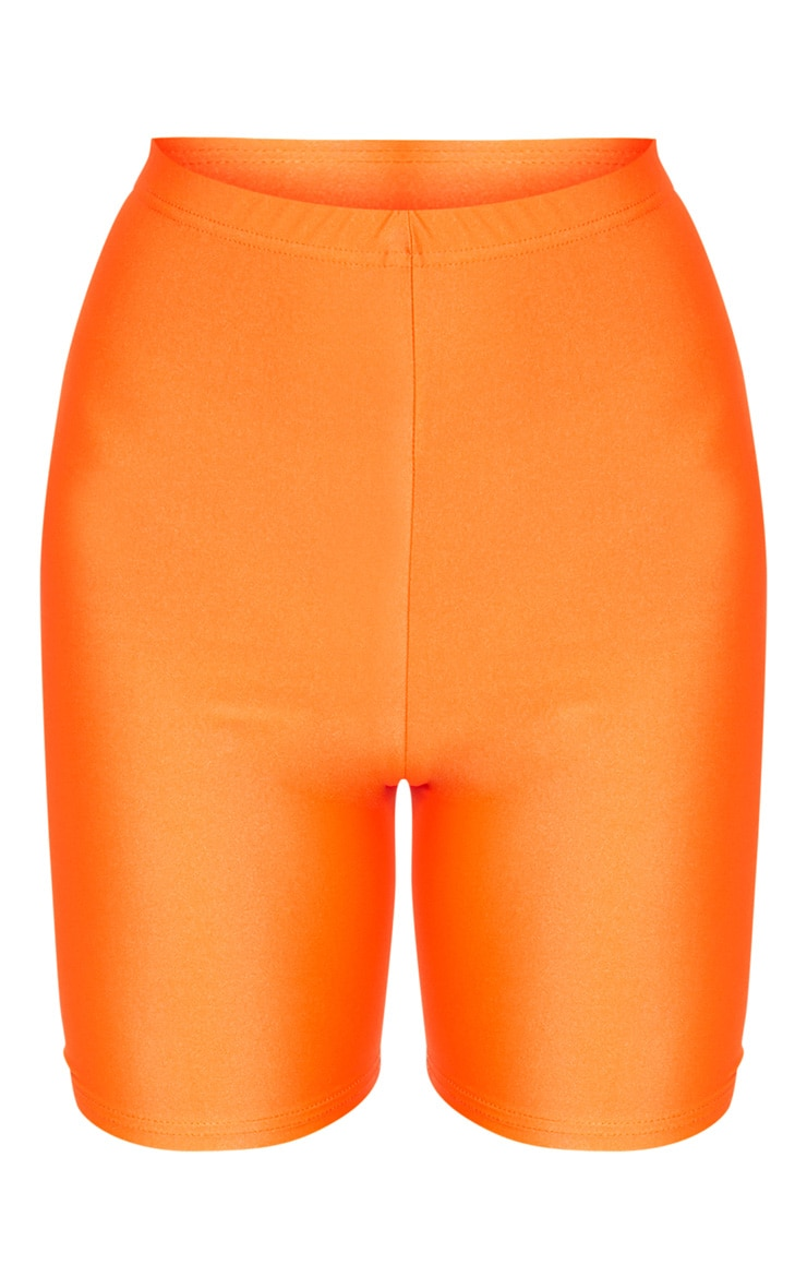 Orange Neon Cycling Shorts 3