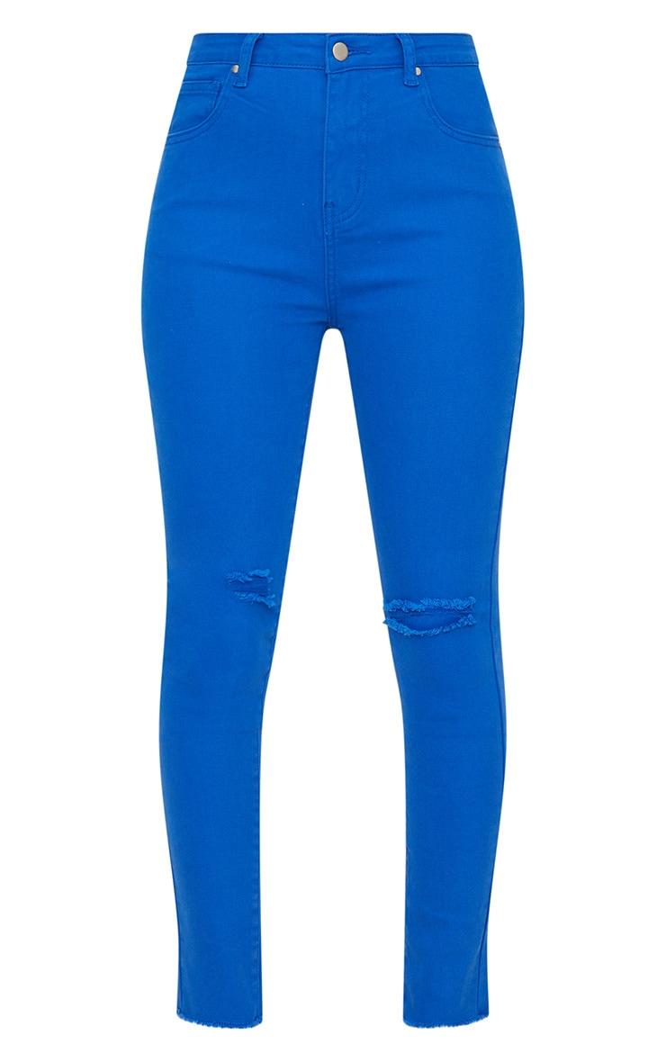 Cobalt Rip Knee Skinny Jean 3