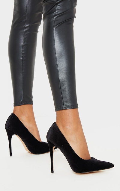 Black Velvet Court Shoes