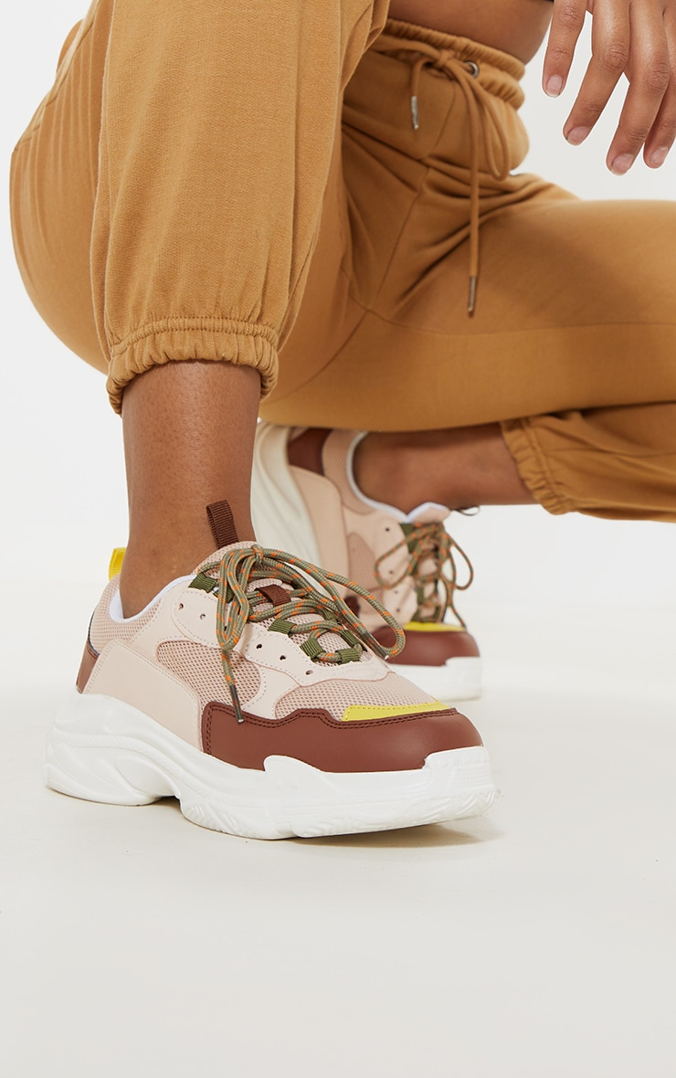 Nude Lace Up Chunky Sneaker 1