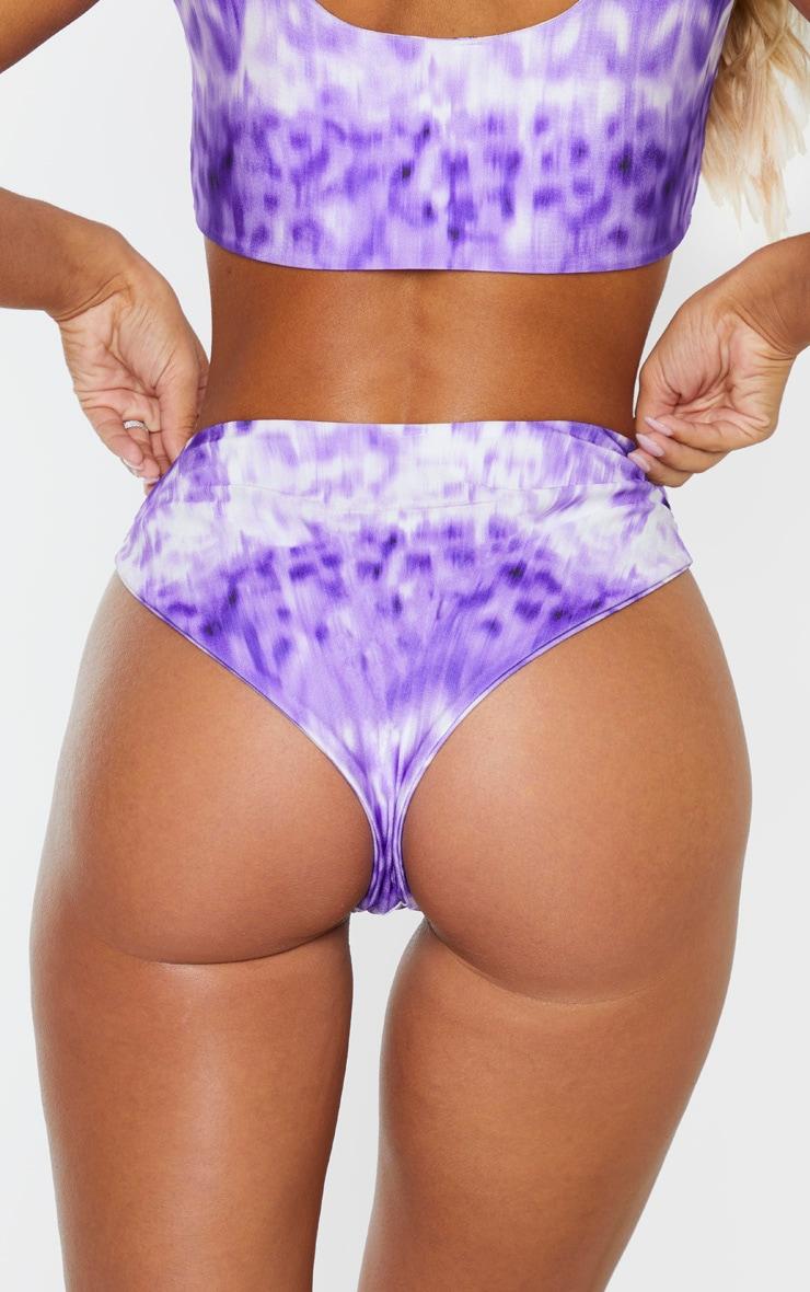 Tie Dye High Waisted Bikini Bottom 4