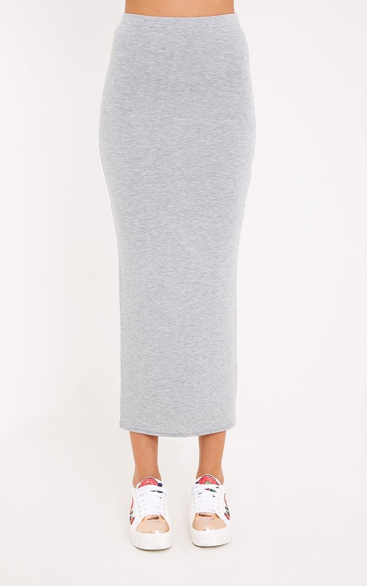 Basic Black & Grey Jersey Midaxi Skirt 2 Pack 2