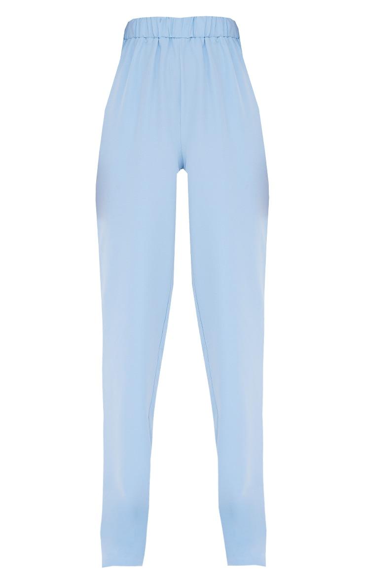 Tall - Pantalon évasé bleu à taille élastique 5