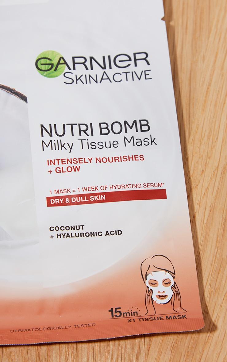Garnier Nutri Bomb Milky Coconut and Hyaluronic Acid Sheet Mask 3